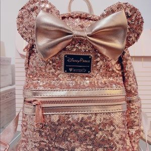 Disney Parks Loungefly Mini Backpack (Rose Gold)
